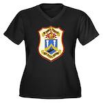 USS DYESS Women's Plus Size V-Neck Dark T-Shirt