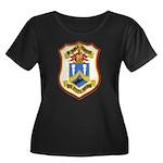 USS DYES Women's Plus Size Scoop Neck Dark T-Shirt