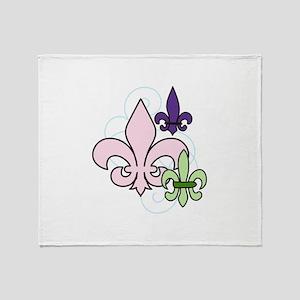 Fleur De Lis Trio Throw Blanket