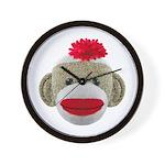 Sock Monkey  Wall Clock