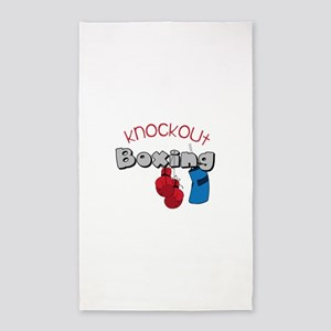 Knockout Boxing 3'x5' Area Rug
