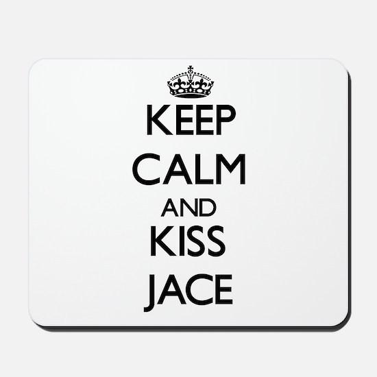 Keep Calm and Kiss Jace Mousepad