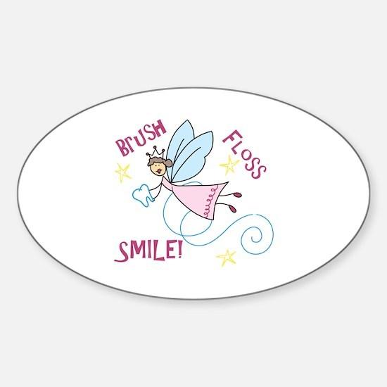 Brush Floss Smile Decal