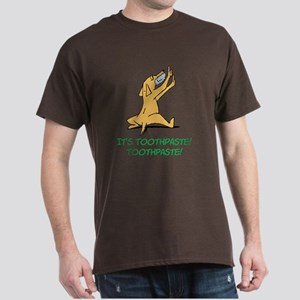 Cartoon Rabid Dog Dark T-Shirt
