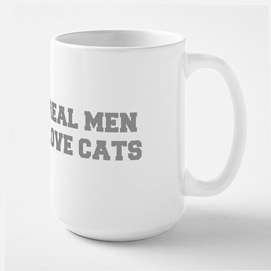 real-men-love-cats-FRESH-GRAY Mugs