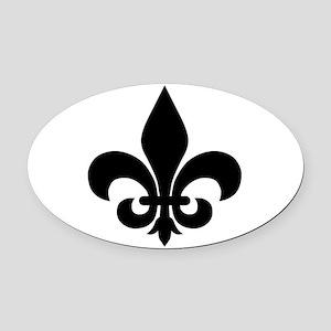 Fleur-de-lis Oval Car Magnet