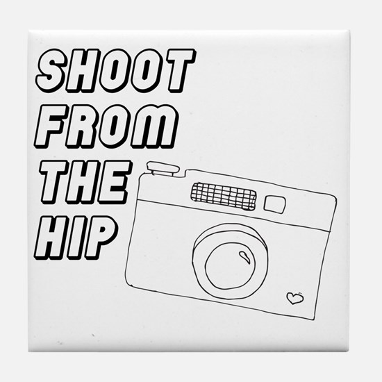 Shoot From The Hip Tile Coaster