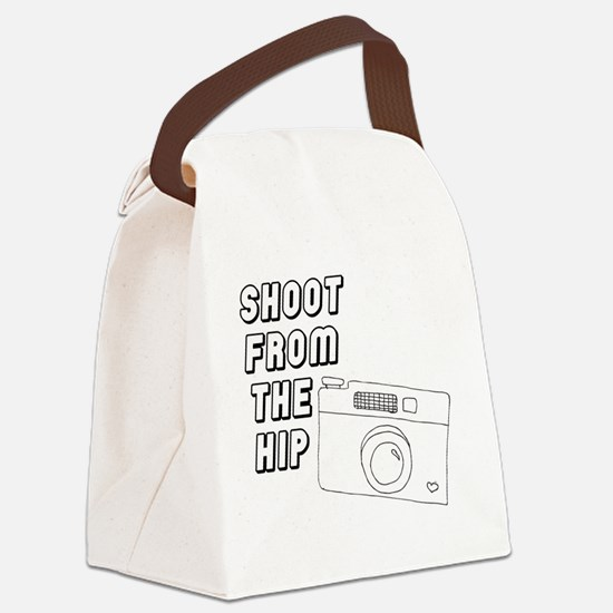 Shoot From The Hip Canvas Lunch Bag