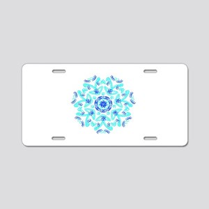 Fantasy Doodle Kaleido,blue aqua Aluminum License