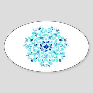 Fantasy Doodle Kaleido,blue aqua Sticker