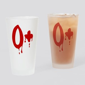 Blood Type O+ Positive Drinking Glass