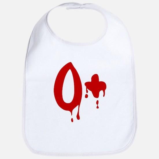 Blood Type O+ Positive Bib