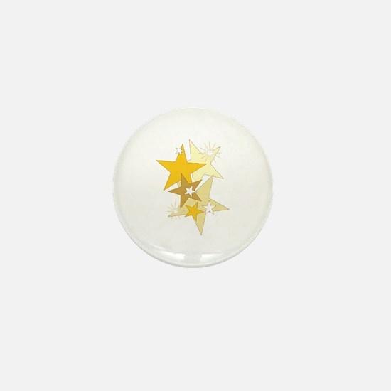 Gold Stars Mini Button