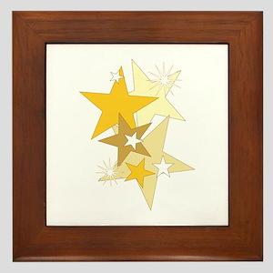 Gold Stars Framed Tile
