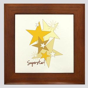 Gold Stars Superstar Framed Tile