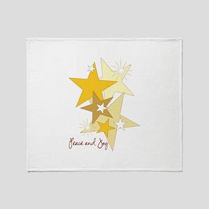 Peace and Joy Stars Throw Blanket