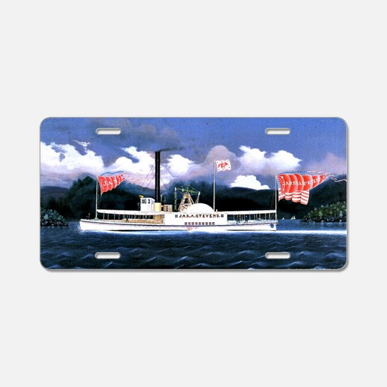 James Bard painting, James  Aluminum License Plate
