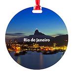 Rio de Janeiro Round Ornament