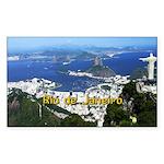 Rio de Janeiro Sticker (Rectangle 10 pk)