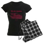 Rio de Janeiro Women's Dark Pajamas