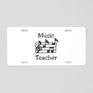 Music Teacher Aluminum License Plate
