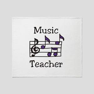 Music Teacher Throw Blanket