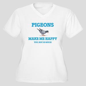 Pigeons Make Me Happy Plus Size T-Shirt