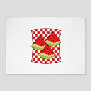 Watermelon Picnic 5'x7'Area Rug