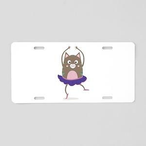 Cat Ballerina Dancing Aluminum License Plate