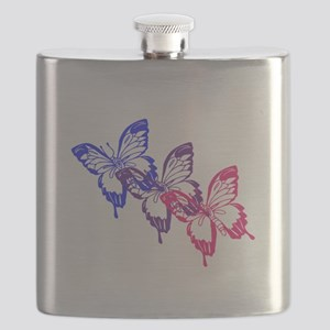 Bisexual Butterfly Flask