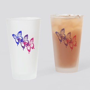 Bisexual Butterfly Drinking Glass