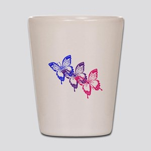 Bisexual Butterfly Shot Glass
