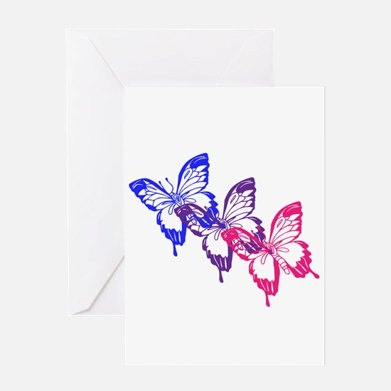 Bisexual Butterfly Greeting Cards