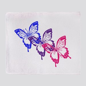 Bisexual Butterfly Throw Blanket
