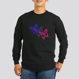 Bisexual Butterfly Long Sleeve T-Shirt