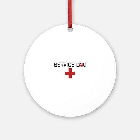 Service Dog Ornament (Round)
