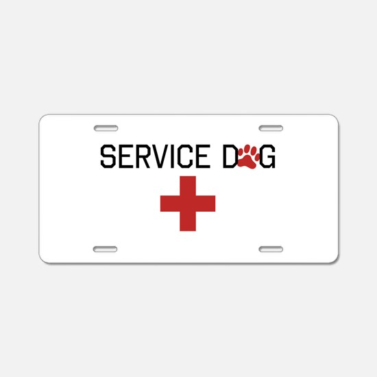 Service Dog Aluminum License Plate