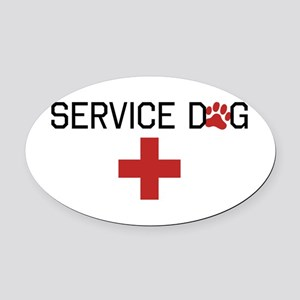 Service Dog Oval Car Magnet