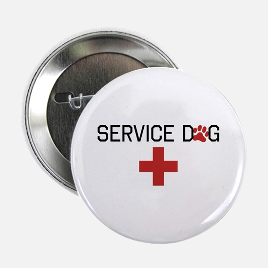 "Service Dog 2.25"" Button"