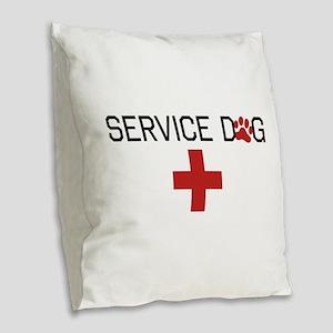 Service Dog Burlap Throw Pillow