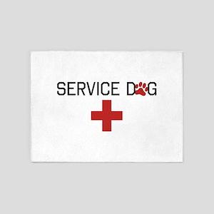 Service Dog 5'x7'Area Rug