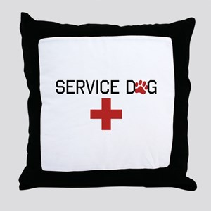 Service Dog Throw Pillow