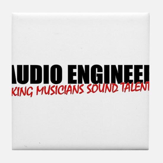 Audio Engineer Tile Coaster