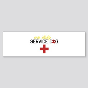 On Duty Service Dog Bumper Sticker