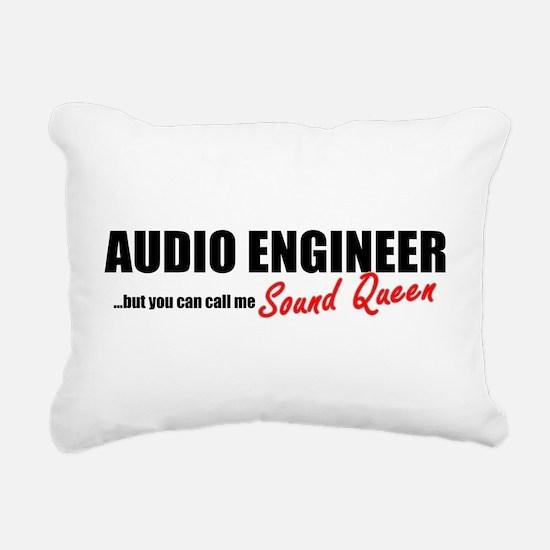 Sound Queen Rectangular Canvas Pillow