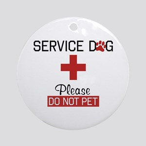 Service Dog Please Do Not Pet Ornament (Round)