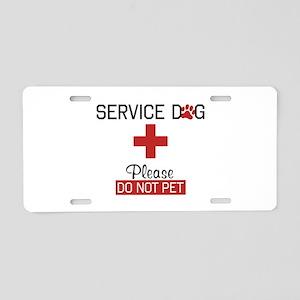 Service Dog Please Do Not Pet Aluminum License Pla