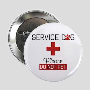 "Service Dog Please Do Not Pet 2.25"" Button"