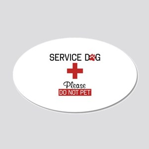 Service Dog Please Do Not Pet Wall Decal