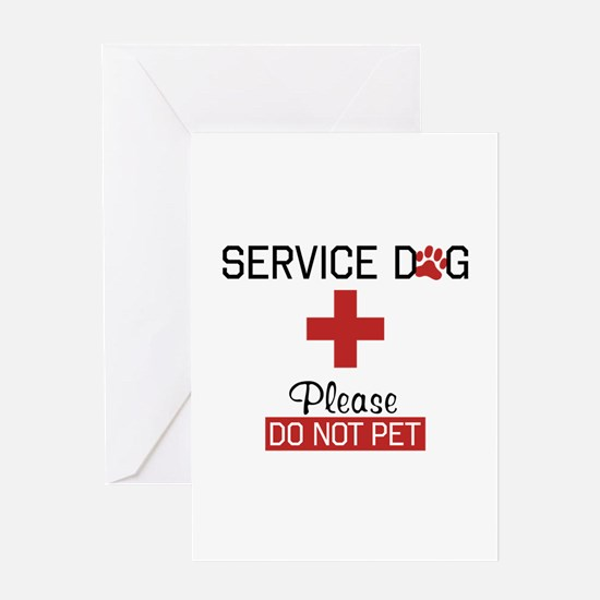 Service Dog Please Do Not Pet Greeting Cards